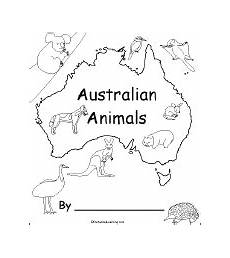 australia animals coloring pages 16900 australian animals a printable book enchantedlearning
