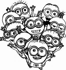 heart pages minions coloring pages