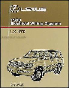 old car manuals online 2000 lexus lx free book repair manuals 1998 lexus lx 470 wiring diagram manual original lx470 electrical schematics oem ebay