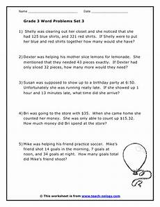 grade 3 word problems set 3