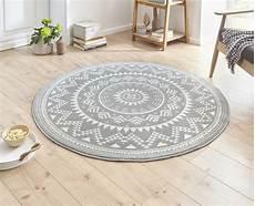 teppiche rund design velours teppich orientalisch cm 15 grau creme rund