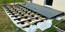 pose terrasse bois sur plot beton castorama mailleraye