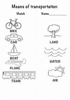 transportation coloring worksheets 15179 means of transport coloring and match for kindergarten