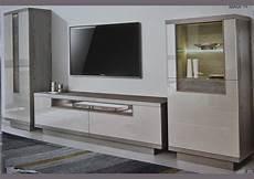 acheter votre meuble tv contemporain bois gris 2 portes 1