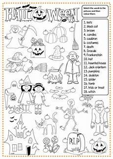 halloween matching worksheet free esl printable worksheets made by teachers