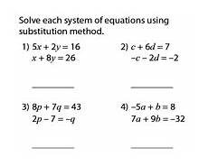 solving systems of equations worksheets with two variables