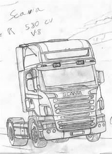 Ausmalbilder Lkw Daf Scania 580r By Fx2b By Fx2b On Deviantart