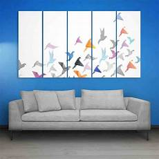 Frames Birds Abstract Wall Painting For Living