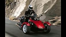 motorrad mit 3 räder motorrad mit drei r 228 dern der brp can am spyder roadster