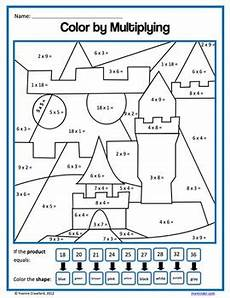 color by number worksheets for 3rd grade 16146 color by number third grade color by multiplication and division