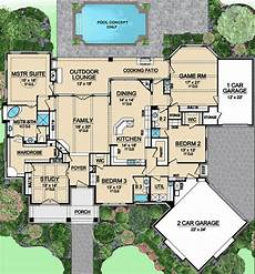 exclusive 3 bed house plan with game room plan 36424tx 3 bedroom beauty with game room house