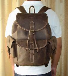 sac a dos en cuir 5184 vintage femmes homme cuir sac a dos voyage sacoche cartable portable 14 quot p25 in backpacks from