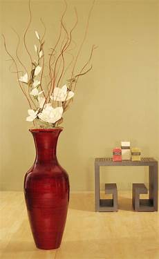 Home Decor Ideas With Vases by Accent Your Home Decor With This Bamboo Floor Vase And