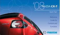 car repair manuals online pdf 2008 mazda mazdaspeed 3 on board diagnostic system 2008 mazda cx7 quick tips free download pdf manual car owners manuals