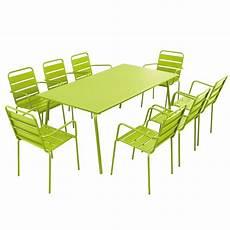 table et chaise de terrasse table et chaises de terrasse en acier 8 places mobeventpro