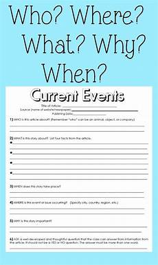 current events handout reading skills and students