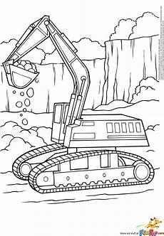 Malvorlagen Bagger Traktor Digger Coloring Pages Getcoloringpages