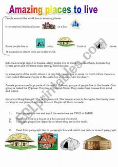 worksheets for places to live 15996 amazing places to live esl worksheet by rose uy