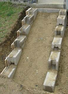 Eine Treppe Aus Stahlbeton Gartenbau Selber Gemacht