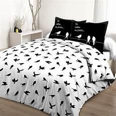 achat parure de lit 100 coton 240x260 cm petits oiseaux