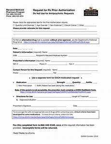 free maryland medicaid prior rx authorization form pdf