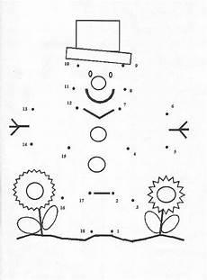 Ausmalbilder Zahlen Verbinden Bis 10 Snowman With A Hat Coloring Pages Hellokids