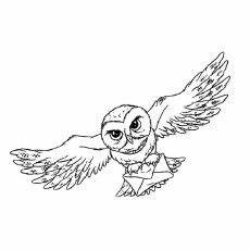 Ausmalbilder Eule Hedwig Top 20 Free Printable Harry Potter Coloring Pages