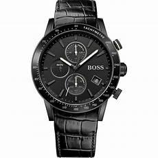 boss uhren herren schwarz s rafale all black chronograph watches