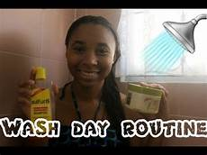 wash day routine for relaxed hair youtube