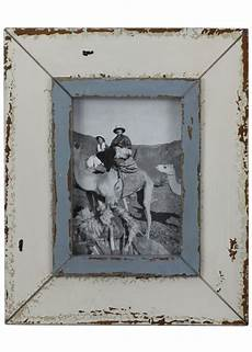 Bilderrahmen Holz Weiß - bilderrahmen wei 223 blau shabby vintage fotorahmen holz