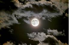 Moon And Clouds Photo