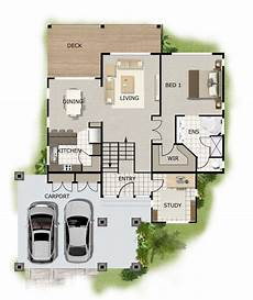 house plans for sloped land free home plans sloping land house front lot hillside