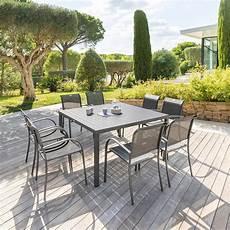 Table De Jardin Carr 233 E Piazza Graphite Hesp 233 Ride 8 Places