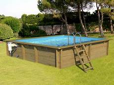 Piscine Hors Sol Bois Proswell Weva Rectangle 6x3 H133cm