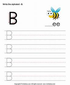 letter b writing worksheets 24032 uppercase alphabet writing practice b worksheet turtle diary