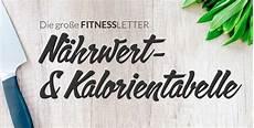 Kalorientabelle Lebensmittel Auf Einen Blick - n 228 hrwert und kalorientabelle lebensmittel fitnessletter de