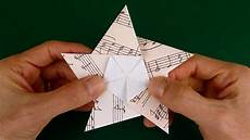 origami sterne falten anleitung folding a 5 pointed origami