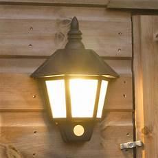 28cm outdoor garden solar shed garage wall auto pir security lantern led light ebay