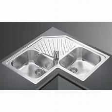 lavelli ad angolo misure lavello ad angolo smeg alba sp2a 2 vasche acciaio inox smeg