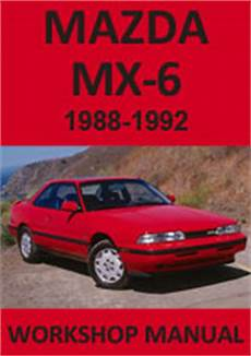 download car manuals pdf free 1988 mazda mx 6 instrument cluster mazda repair manuals download pdf