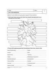 Malvorlagen Vorschule Deutschland Bundesl 228 Nder Landeshauptst 228 Dte Lernen Erdkunde Lernen