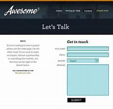 exles of html contact forms in web design designrfix com