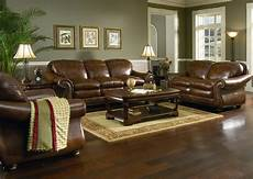 Wandfarbe Wohnzimmer Braunes Sofa - brown leather sofa set for living room with hardwood