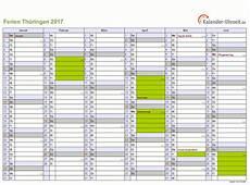 Ferien Th 252 Ringen 2017 Ferienkalender Zum Ausdrucken