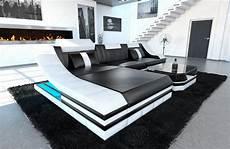 sofa mit led sofas ledersofa ledersofa turino l form mit led