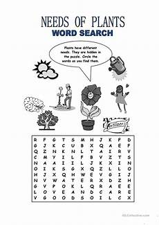 free printable worksheets on plants for grade 3 13687 needs of plants word search worksheet free esl printable worksheets made by teachers