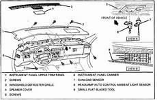 auto manual repair 1996 cadillac eldorado instrument cluster how do you remove a dash board from a 1996 cadillac deville