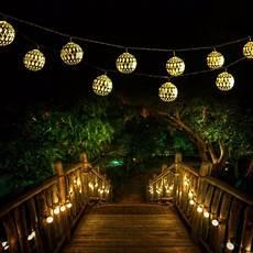 garten lichterkette qedertek solar string lights 11 48ft 10 led moroccan ball