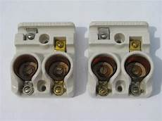 Pair Of Antique Early Ge Architectural Fuse Holders