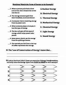 physical science energy transformation worksheet 13198 pin on earth science